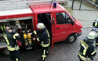Feuerwehrübung im Kindergarten